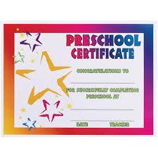 preschool certificates neon preschool certificate s