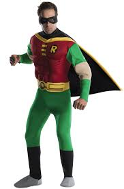 halloween costume robin teen titans deluxe muscle chest robin costume purecostumes com