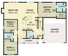 ranch house plans open floor plan eplans ranch house plan 1598 square and 3 bedrooms 2 baths