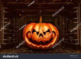 funny halloween pumpkin resembling chinese dragon stock photo