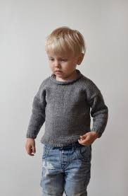 knit toddler sweater sweater grey boy