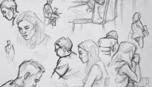 quick study sketch u0027palladium centre escalator prague
