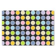 gold polka dot tissue paper gold white outlined pastel rainbow polka dots tissue paper