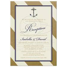 post wedding reception invitations post wedding reception only invitations nautical gold