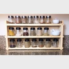 18 Jar Spice Rack Kamenstein 18 Jar Criss Cross Bamboo Spice Rack Walmart Regarding