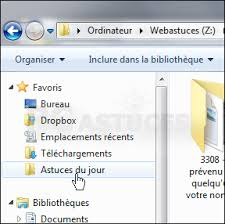mettre favori sur bureau ajouter un dossier aux favoris windows 7
