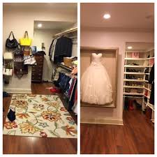 my closet makeover waiting on plexiglass to complete wedding