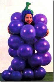Halloween Grape Costume Racimo Uvas Globos Disfraz Disfraces