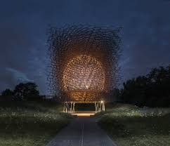 night images of the hive at the royal botanic gardens kew