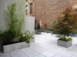 Concrete Planter Boxes by Brick Wall Concrete Planters U0026 Pavers Outdoor Courtyard