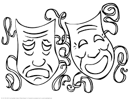 mask coloring pages perfect drama ideas speech