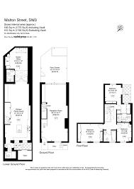 walton house floor plan walton street knightsbridge sw3 4 bedroom terraced house for