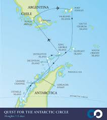 Circle Map Antarctic Circle Crossing Cruise One Ocean Expeditions