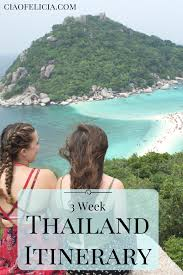 3 week thailand itinerary including the and the south