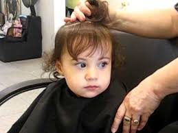 18 month girl haircut baby s first hair cut youtube