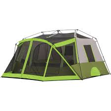Trail Pop Up Awning Ozark Trail 9 Person Instant Cabin Tent With 2 Bonus Queen Airbeds