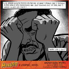 monster page of halloween projects amazon com monster a graphic novel 9780062274991 walter dean