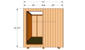 Plans To Build A Small Wood Shed by How To Build A 4x4 Shed Howtospecialist How To Build Step By