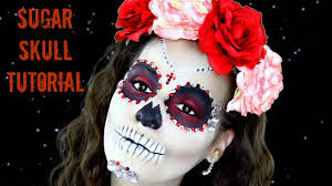 Halloween Makeup Dia De Los Muertos Easy Jeweled Sugar Skull Tutorial For Dia De Los Muertos