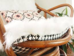 White Fluffy Chair Recovering Chair Cushions With A Fluffy Rug Reality Daydream
