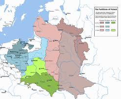 russia map after division russian partition