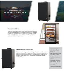 shop masterbuilt jmss 800 watt electric vertical smoker common