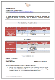 chartered accountant resume over 10000 cv and resume samples with free download fresher