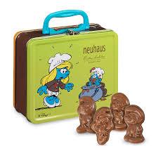 chocolate delivery neuhaus smurfs tin keepsake box 24 pcs demeersman luxury chocolate