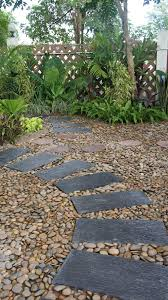 Pebbles And Rocks Garden Pebble Paver Garden In Hua Hin Thai Garden Design