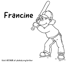 baseball bat coloring pages arthur print coloring pages pbs kids