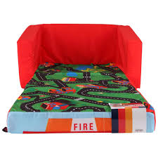 flip out sofa with play mat fire truck big w