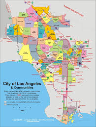 los angeles suburbs map map of l a neighborhoods called united states of awesome