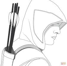 green arrow coloring pages eson me
