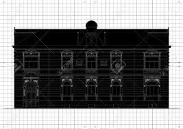 vintage house blueprint plans background illustration royalty free