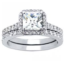 Sterling Silver Wedding Ring Sets by Women U0027s Cubic Zirconia Princess Cut Sterling Silver Engagement