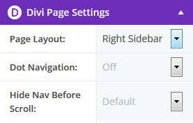 right sidebar divi regular sidebar on page builder pages sundari webdesign