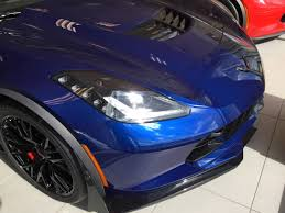 2016 corvette z06 with admiral blue metallic paint dark gray