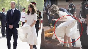 kate middleton dresses kate middleton wardrobe malfunction in india youtube
