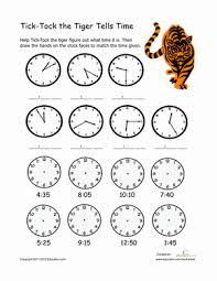 learning to tell time first grade worksheets and 1st grades