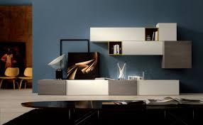 Wall Cabinets For Living Room Living Room Luxury Minimalistic Modern Wall Units On Dark Grey
