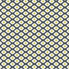 grey white yellow ornament pattern fabric