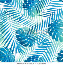 Design Patterns For Cards Summer Tropical Palm Tree Leaves Seamless Stock Vector 649565215