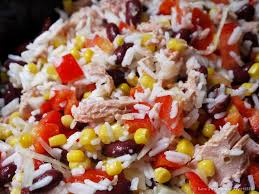 cuisiner les haricots rouges la cuisine de myrtille salade de riz aux haricots rouges et au thon
