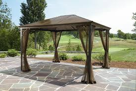patio furniture gazebo grand resort 10x12 hardtop gazebo outdoor living gazebos