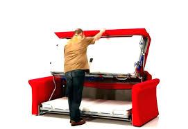lit en hauteur avec canapé lit superpose avec canape lit mezzanine avec banquette clic clac lit