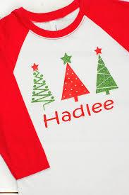 traditional christmas trees with name youth 3 4 sleeve raglan