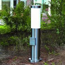 aussenleuchten design skapetze sydney pollerleuchte 45 cm mit steckdose edelstahl