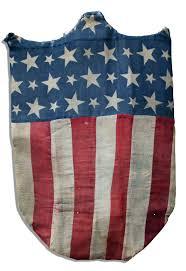 Civil War Union Flags Lot Detail Civil War Era Shield Made From American Flag