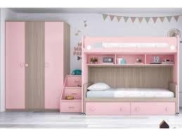 chambre fille avec lit superposé lit superposé fille avec armoire personnalisable f266 glicerio