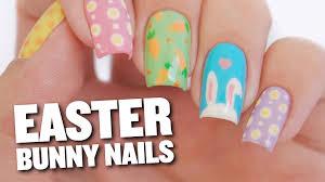 easter bunny u0026 eggs nail art design youtube